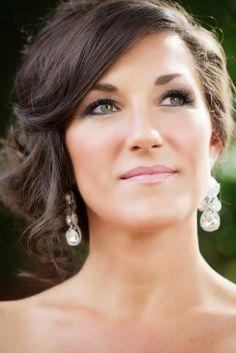 natural bridal makeup with soft smoky eye
