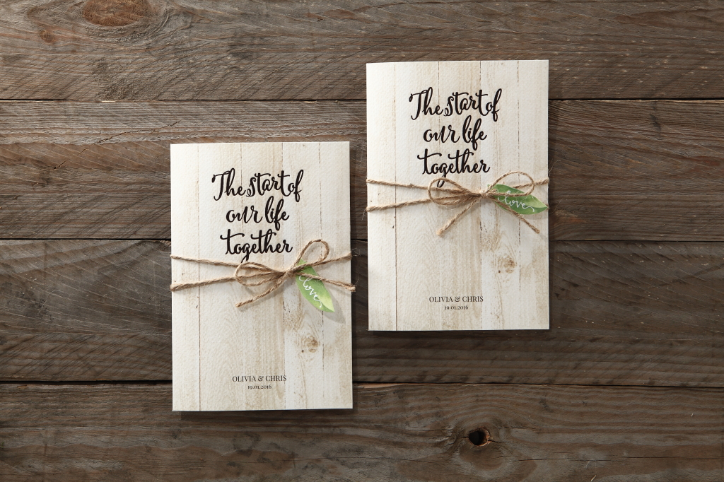 Forest Wedding Invitation with twine