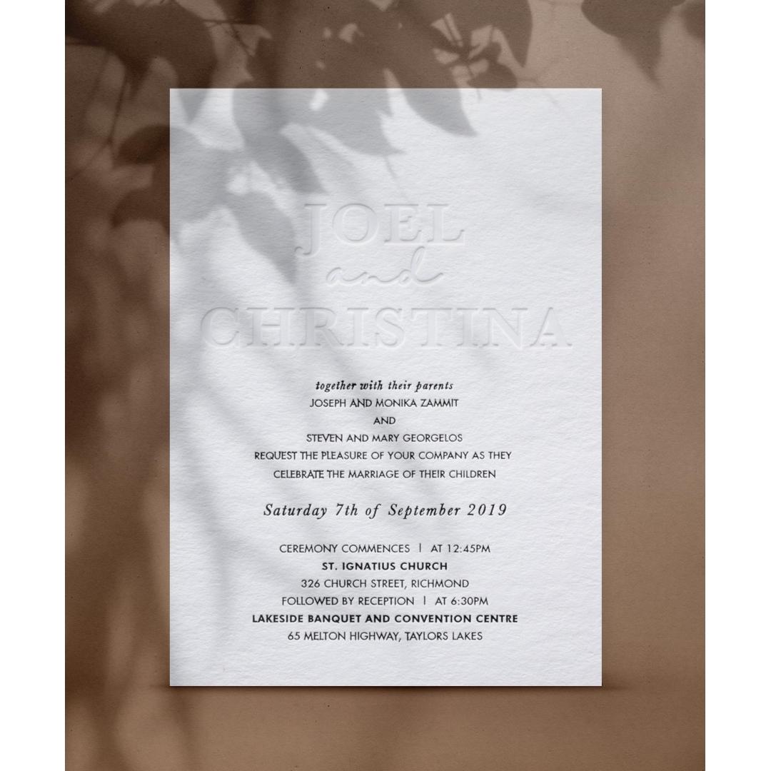 Letterpress Extravagance - Wedding Invitations - WP-IC55-LP-011 - 179126