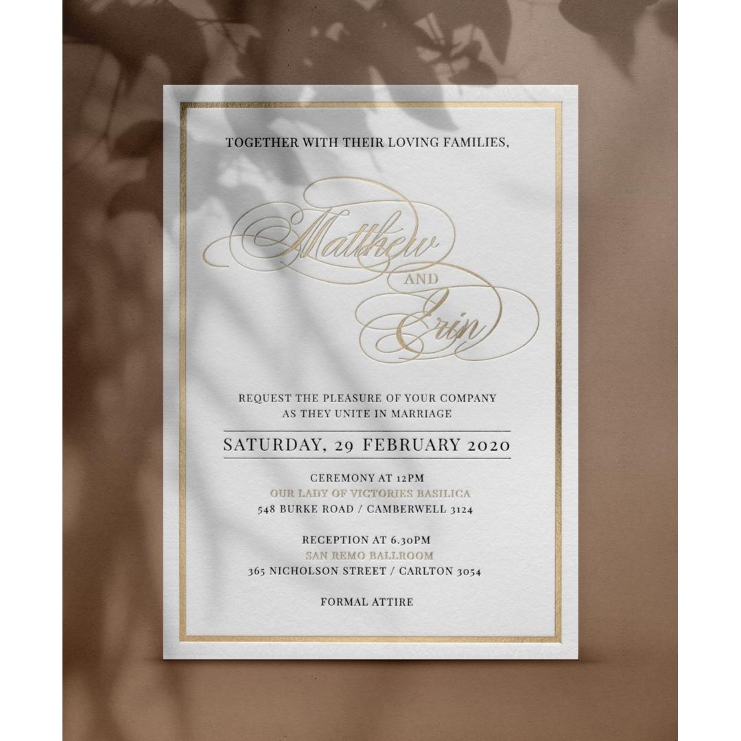 Classic Foil and Letterpress - Wedding Invitations - WP-IC55-BLGG-02 - 179123