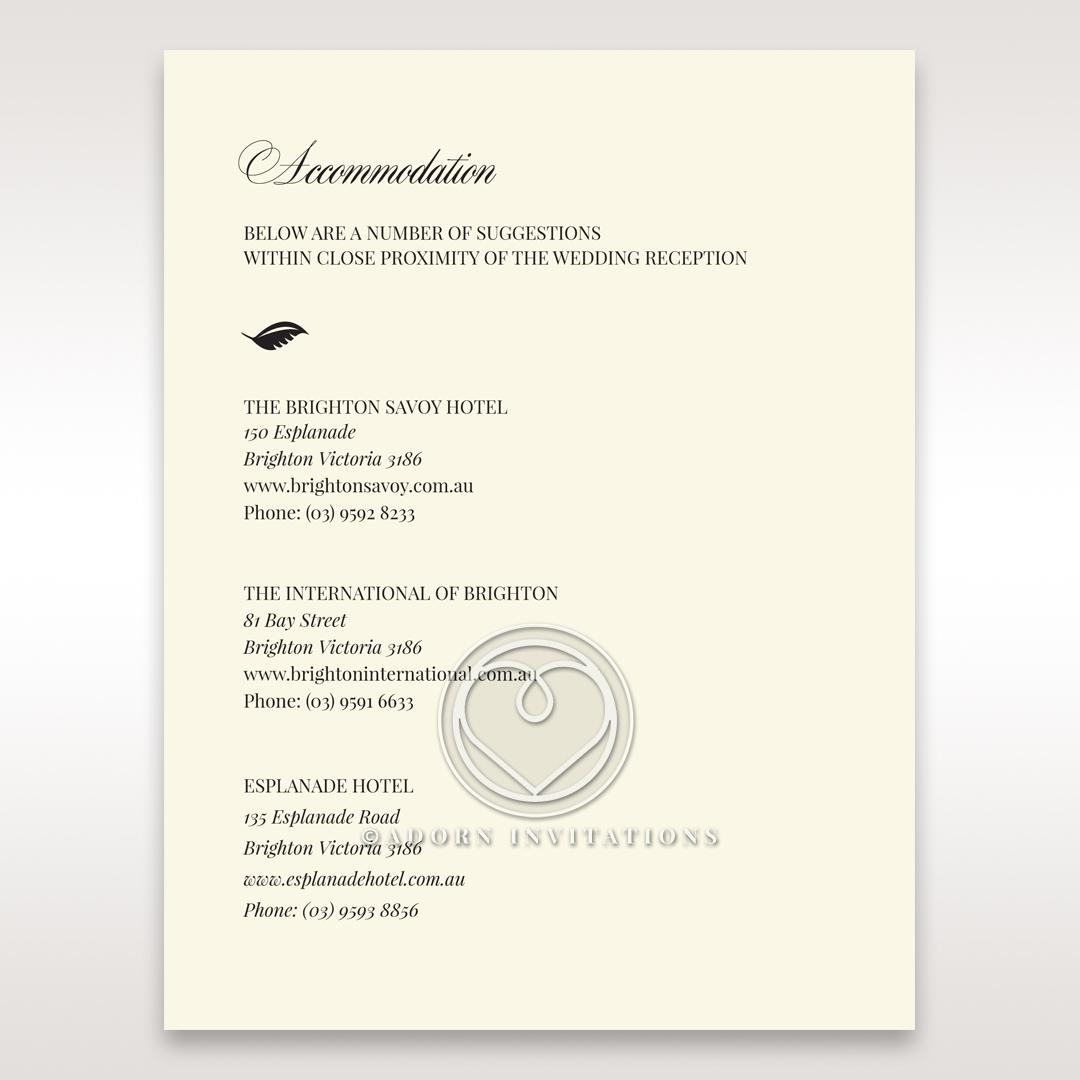 Elegant Floral Laser Cut wedding accommodation card design
