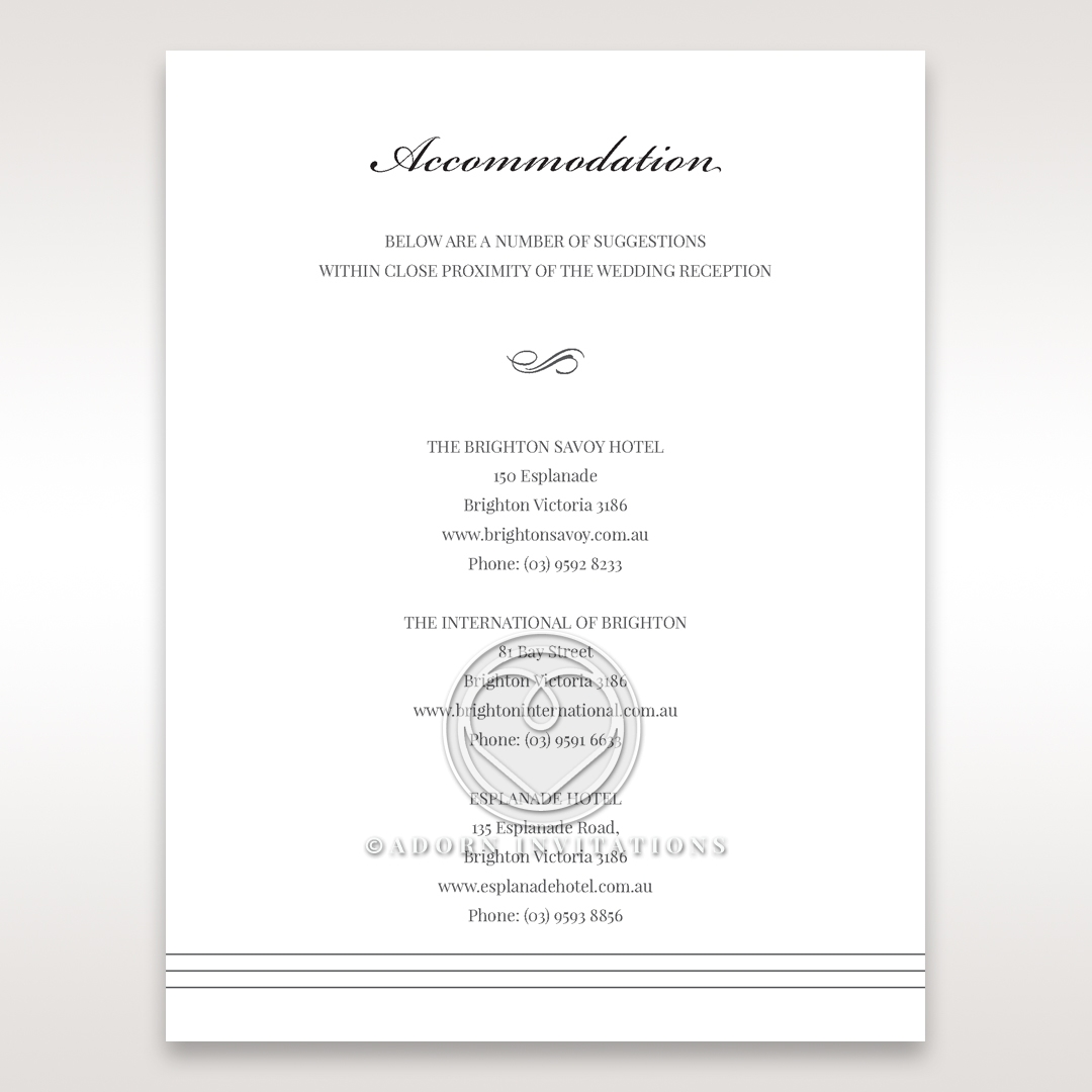 Marital Harmony accommodation wedding card