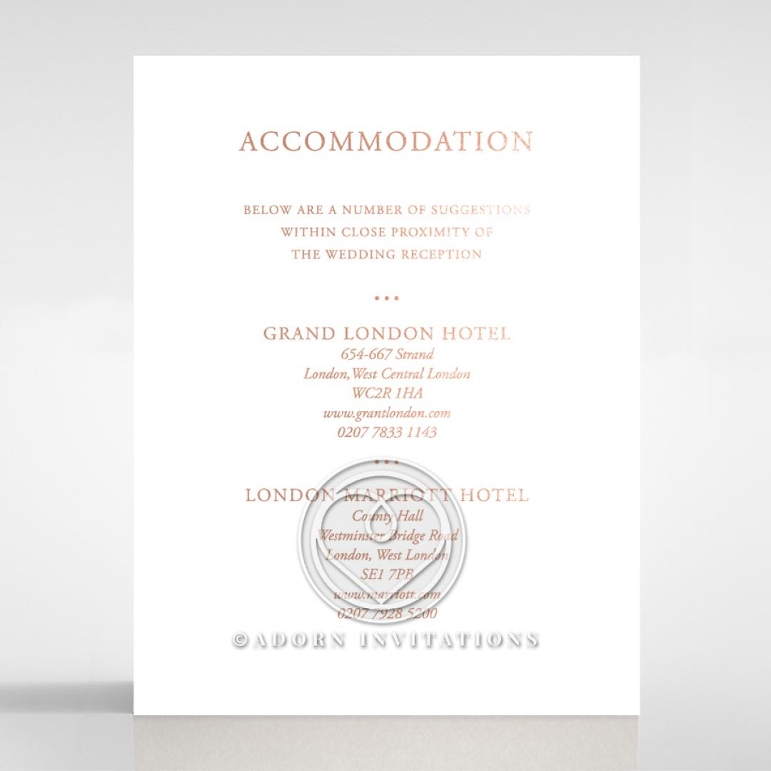 Sunburst wedding accommodation enclosure card design