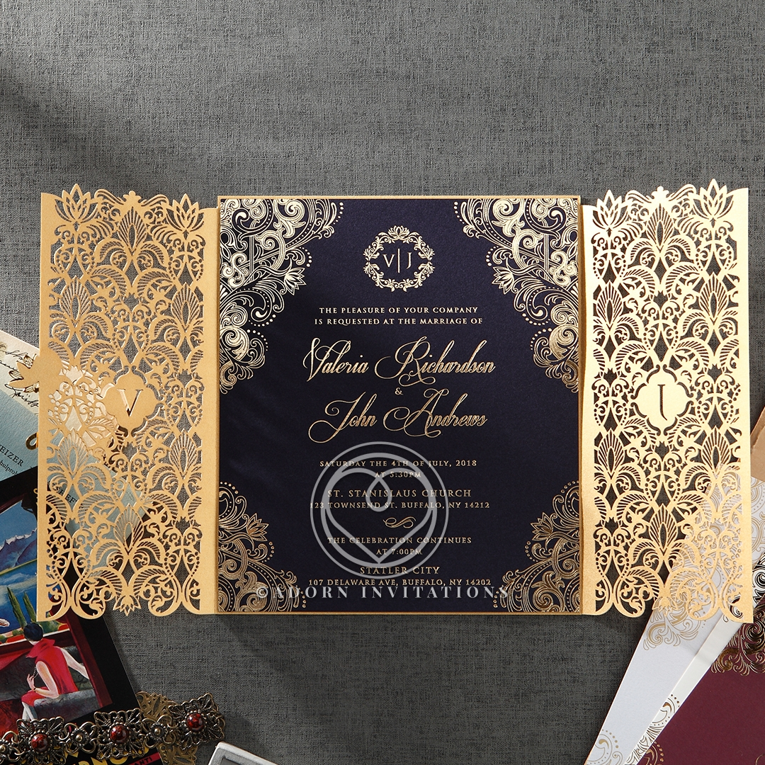 Imperial Glamour bridal shower invitation