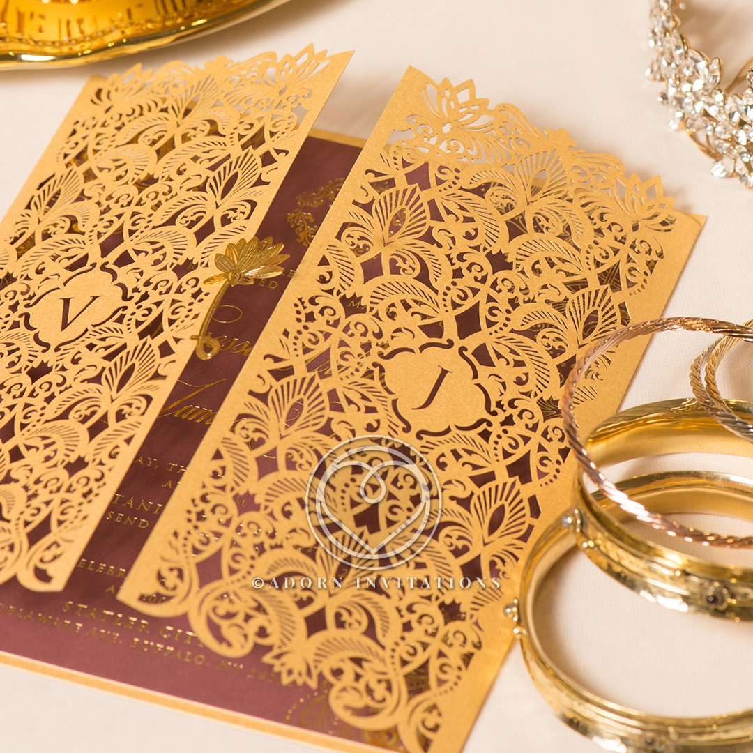 Imperial Glamour bridal shower party Invite Beautifully Design
