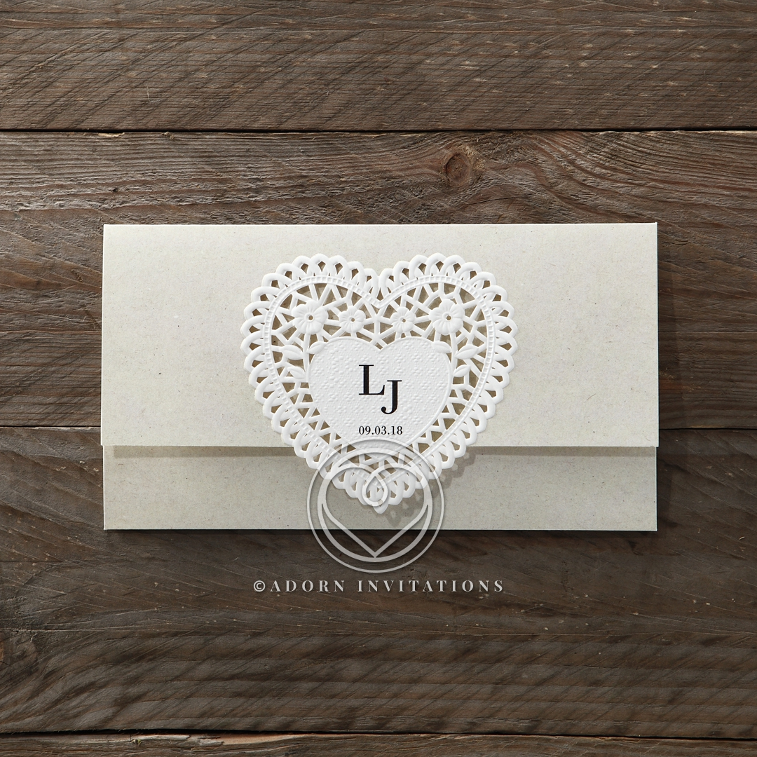 Letters of love engagement party invitation design