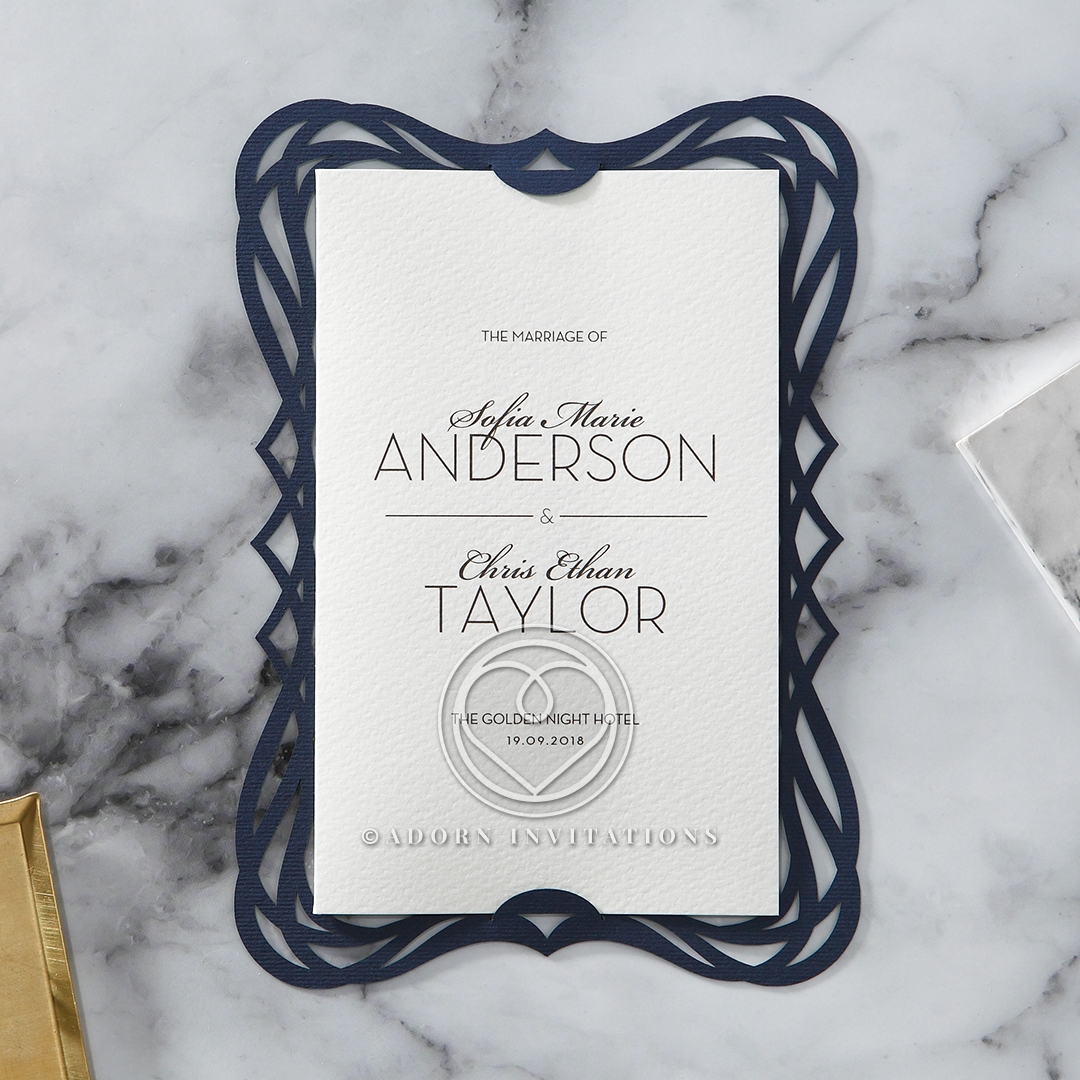 Royal Frame engagement invitation