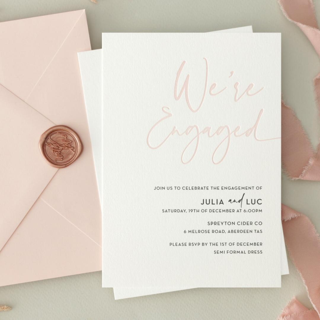 Blushed We're Engaged  - Wedding Invitations - WP-IC55-LP-12 - 179061