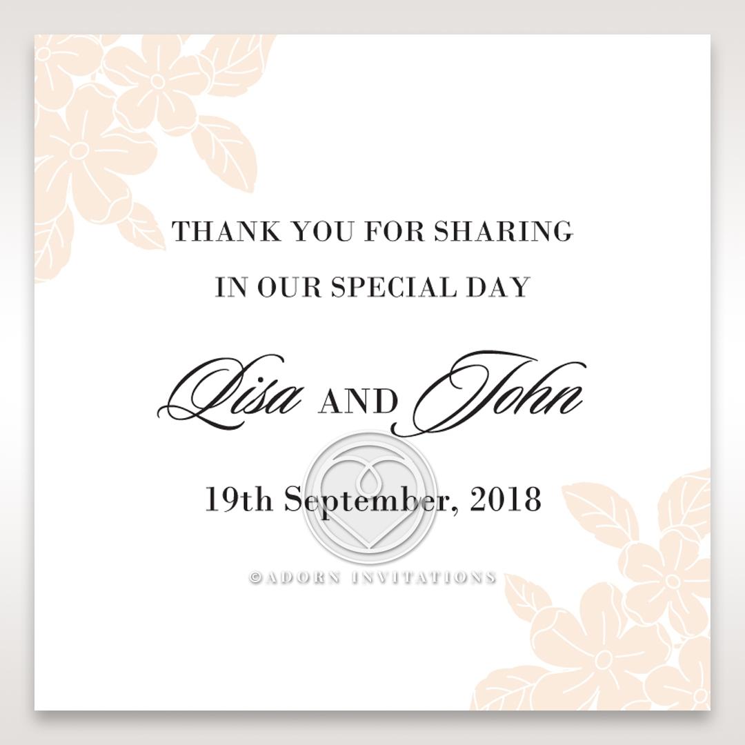 Embossed Floral Frame wedding gift tag