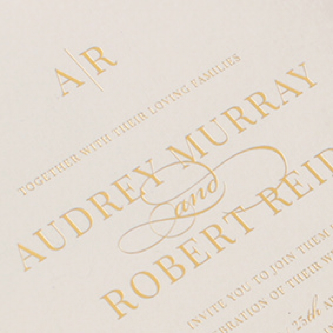 Foil Stamped Elegance - Wedding Invitations - WP300GG - 183741