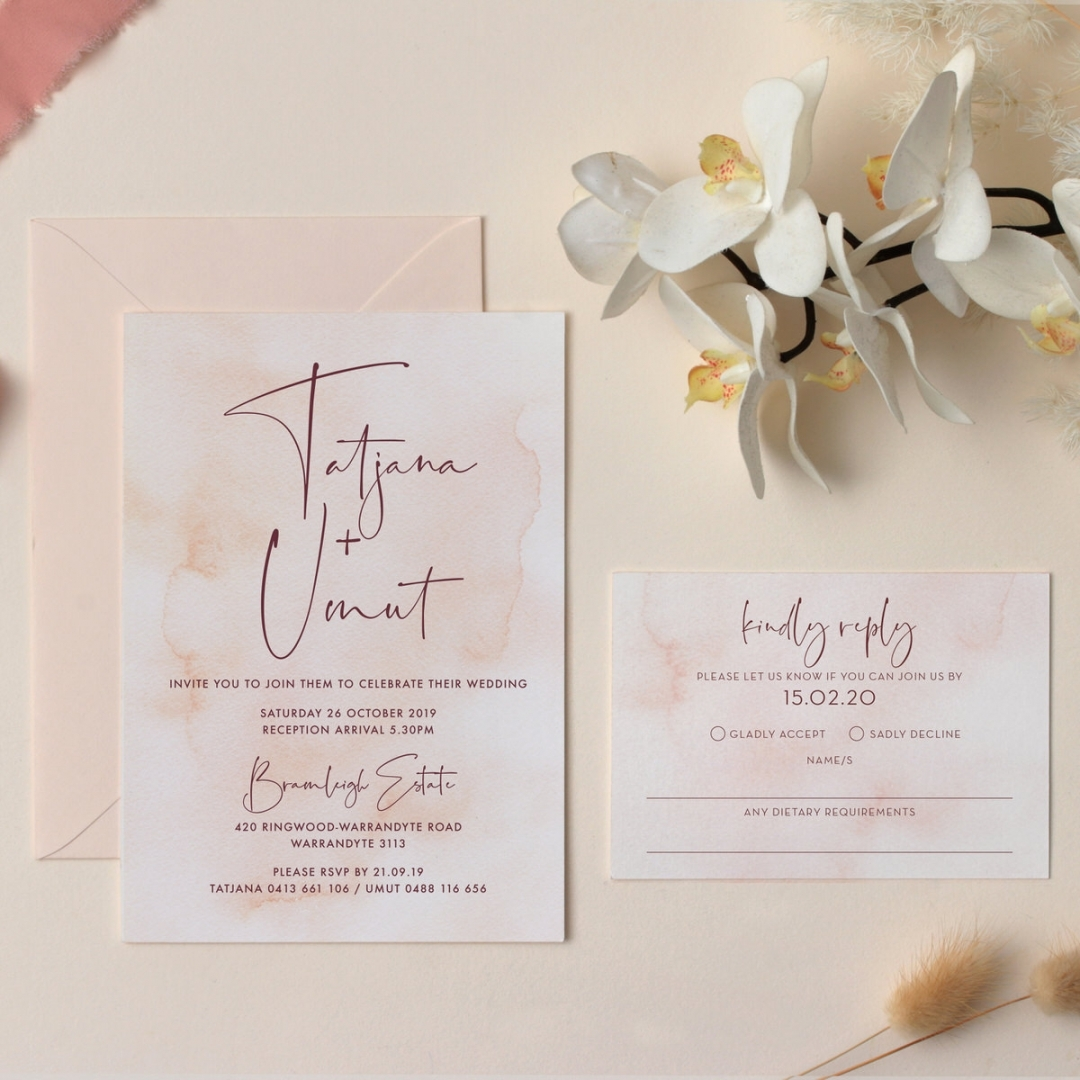 Romantic Blush - Wedding Invitations - GI-KI300-CP-06 - 178686