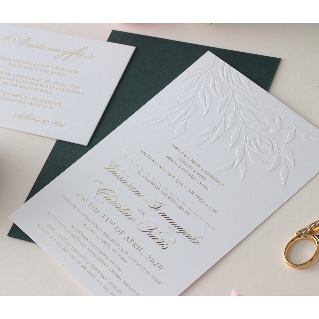 Romantic Garden  - Wedding Invitations - WP-IC55-BLBF - 178603