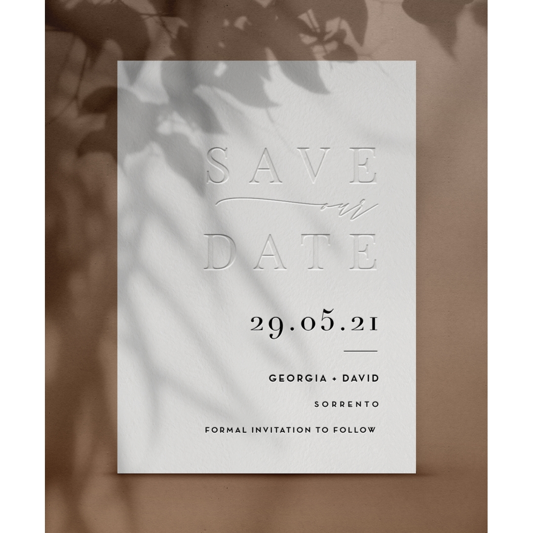 Modern Monochrome Save the Date - Wedding Invitations - WP-CR14-SD-BL - 178868