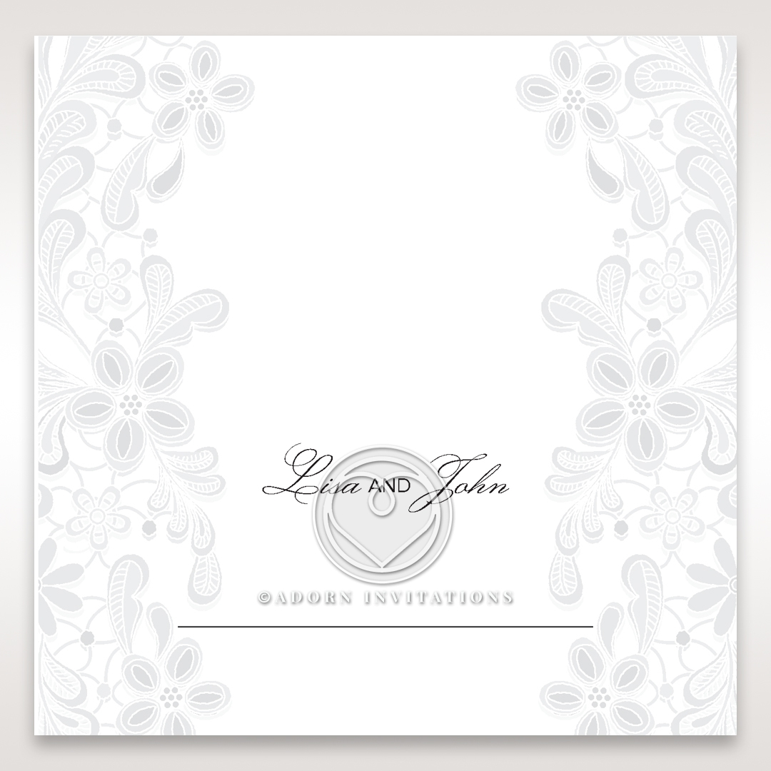 Enchanting Ivory Laser Cut Floral Wrap wedding reception place card stationery item