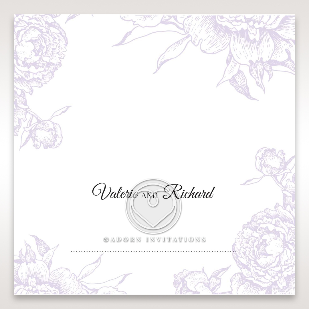Romantic Rose Pocket table place card