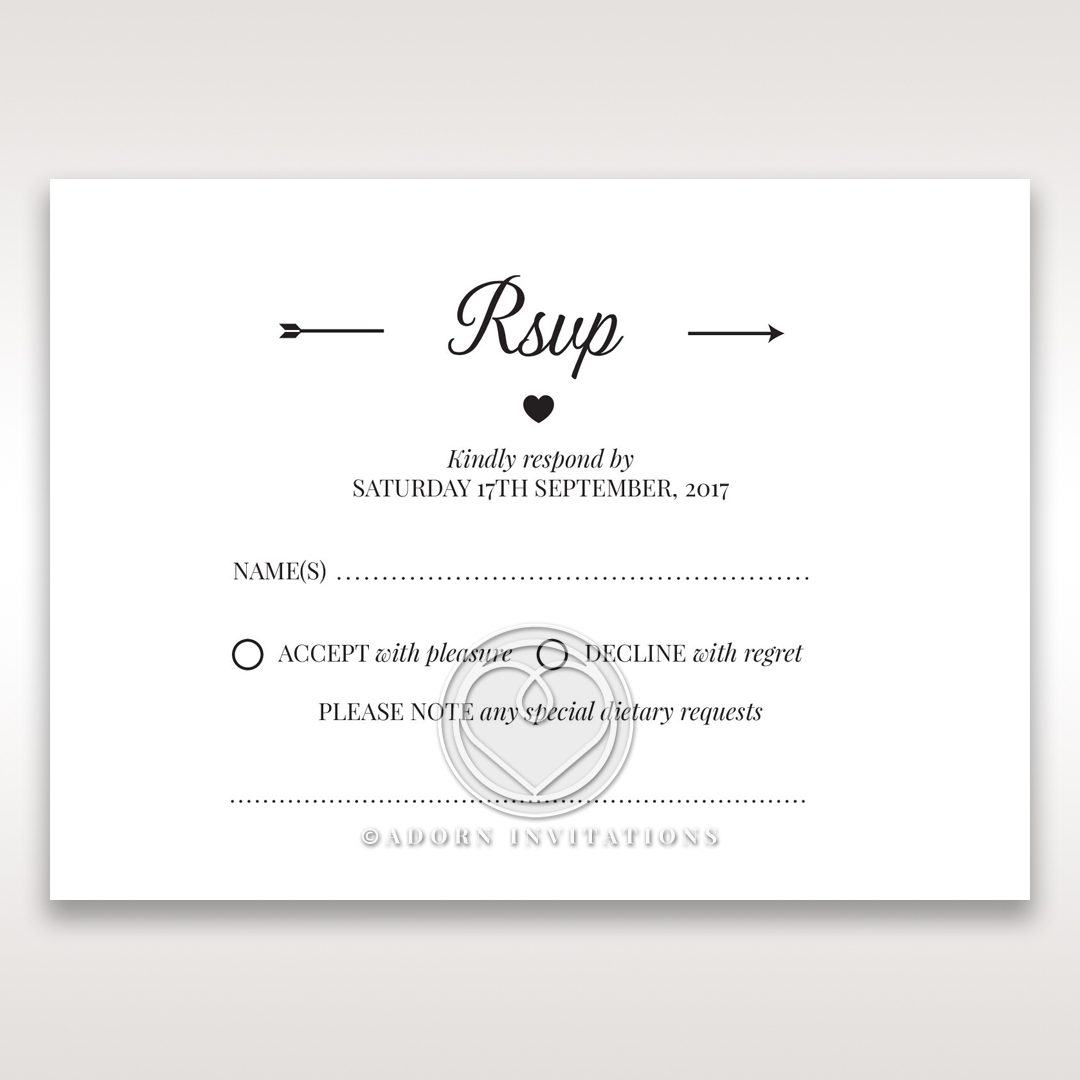 Embossed Frame rsvp wedding enclosure card