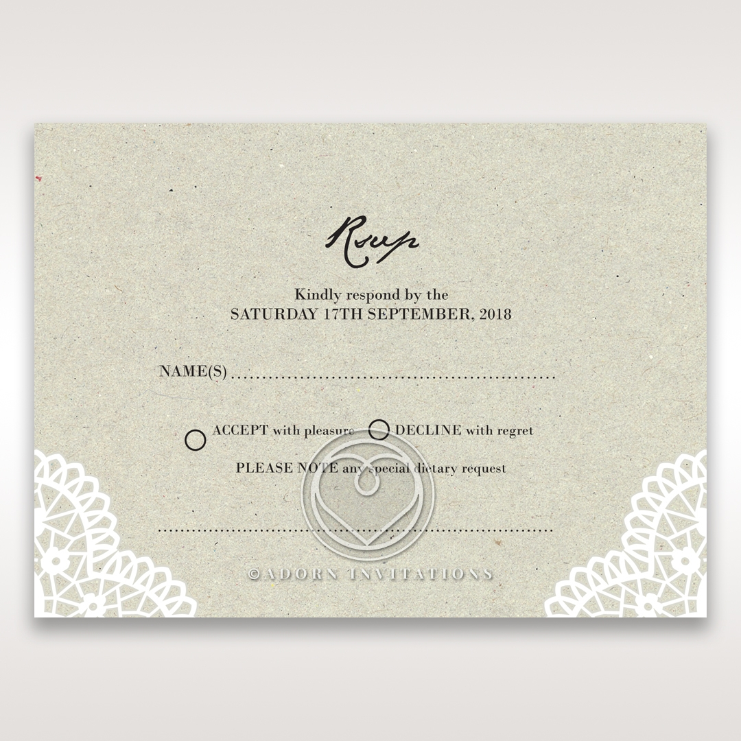 Letters of love rsvp wedding card