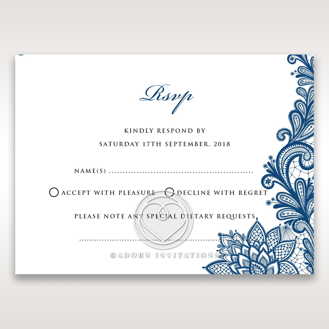 Noble Elegance rsvp enclosure card