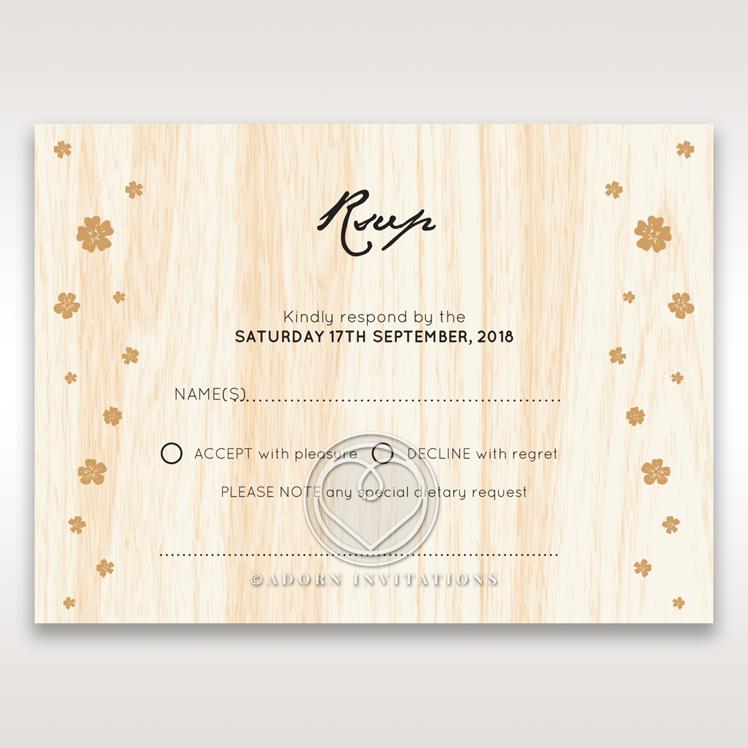Splendid Laser Cut Scenery rsvp enclosure card