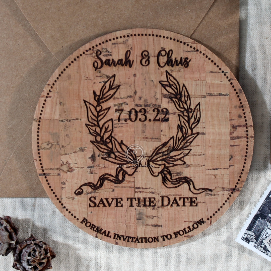 Chic Country Passion save the date wedding card