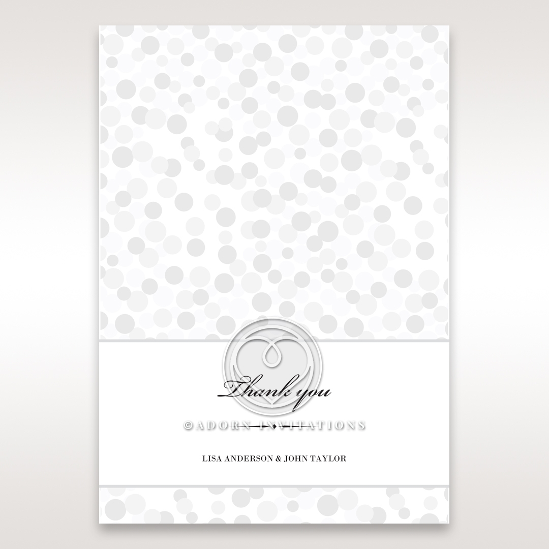 Contemporary Celebration wedding stationery thank you card