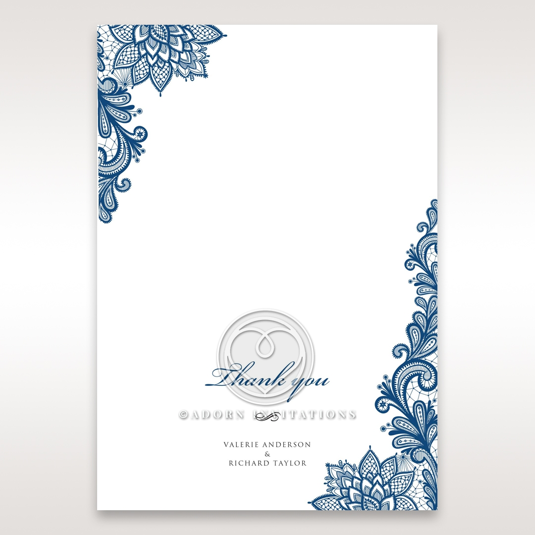 Noble Elegance wedding stationery thank you card