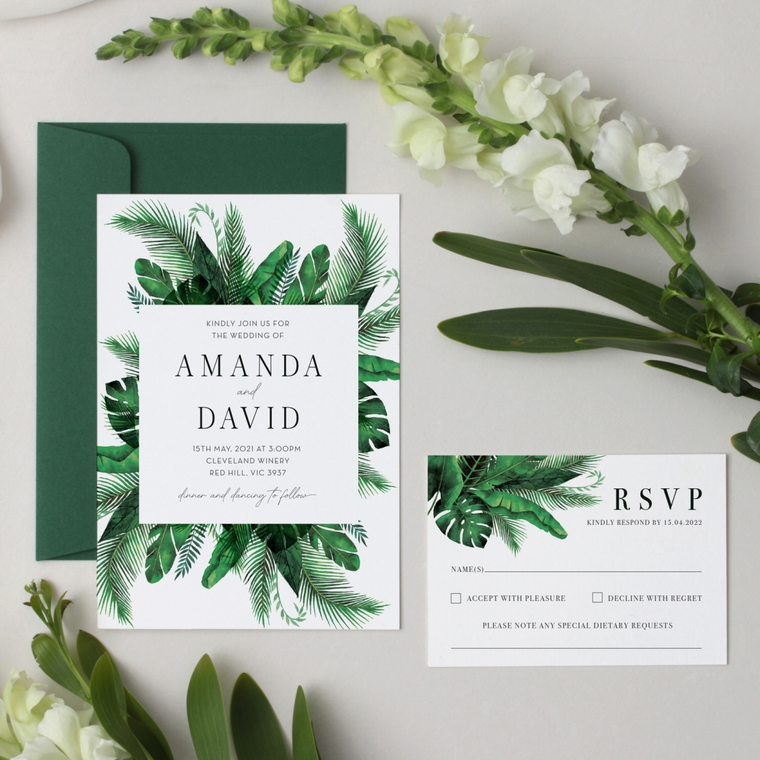 Tropical Wedding - Wedding Invitations - GI-KI300-CP-04 - 178681