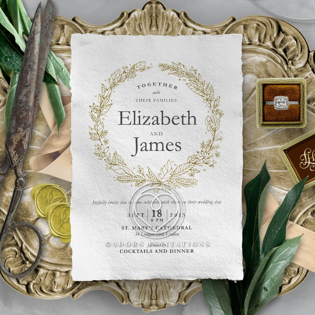 Enchanted Wreath Invitation Card