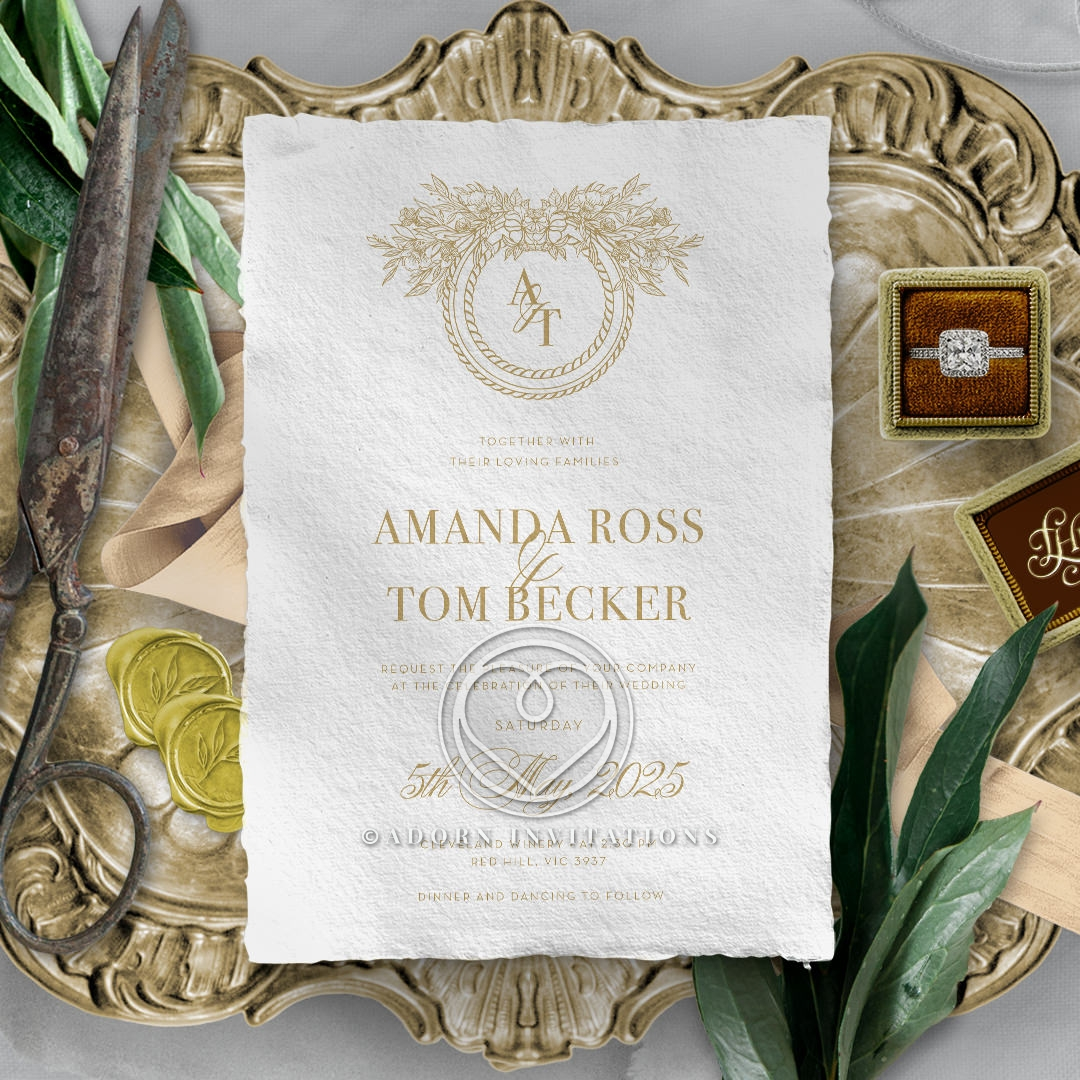 Heritage of Love Wedding Invite Card