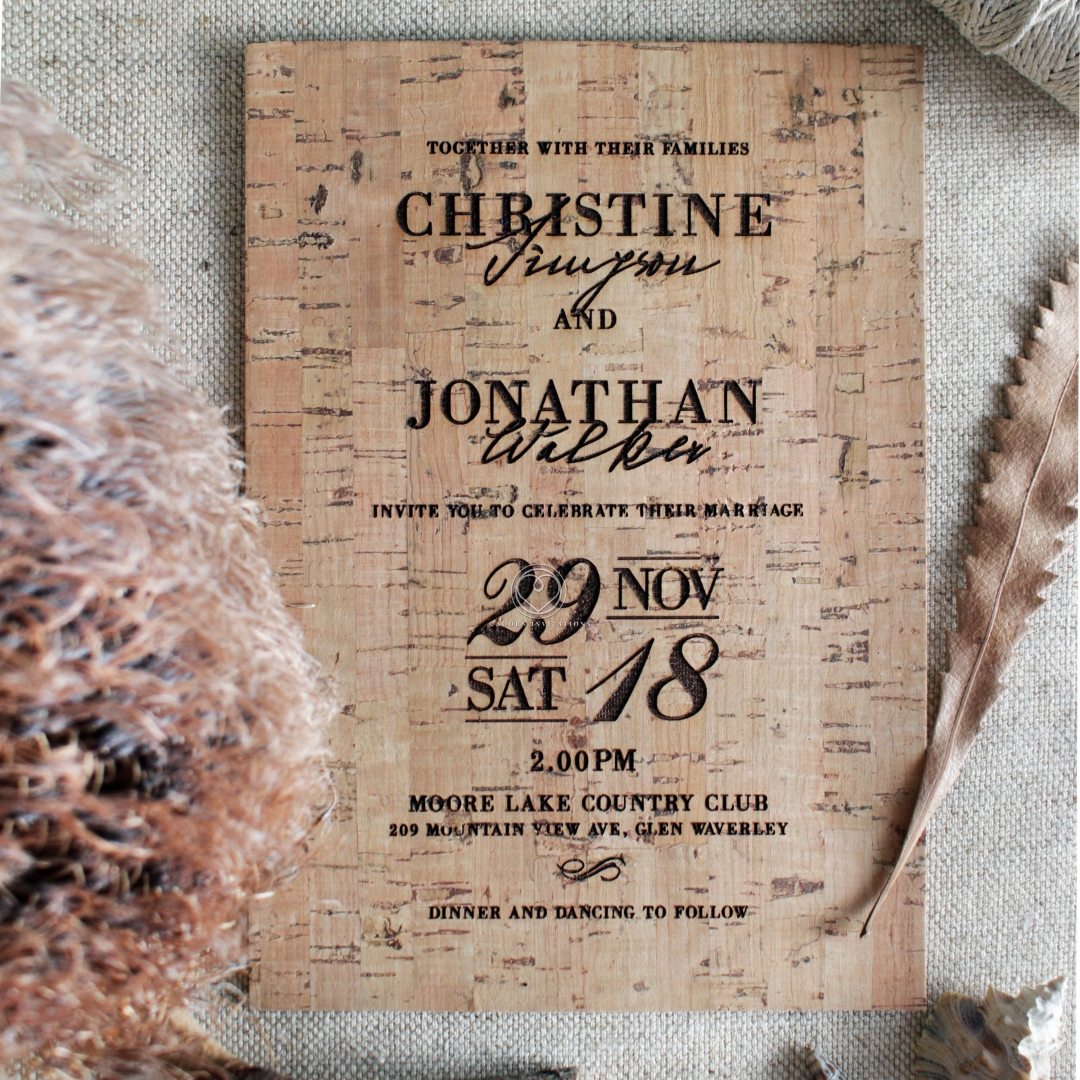 Rustic Love Notes Wedding Invite