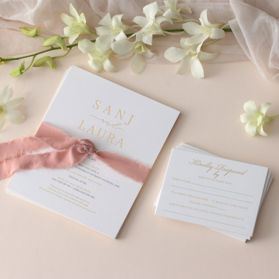 Premium Triplex and Foiled Elegance  - Wedding Invitations - WP-TP02-MG-02-P - 178779