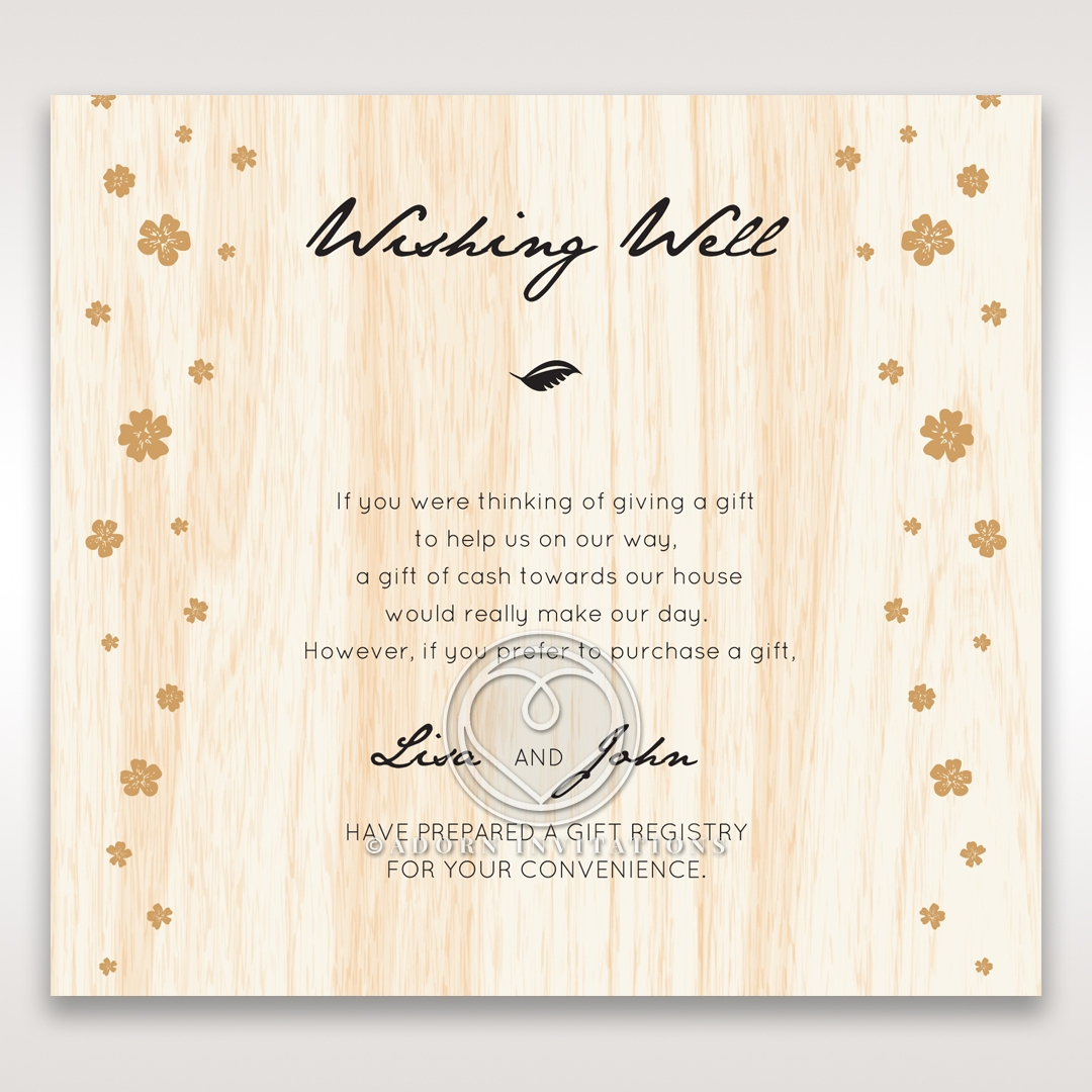 Splendid Laser Cut Scenery wedding stationery gift registry enclosure invite card design