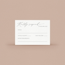 Full Colour RSVP Card - Reception Cards - VD-KI300-CP-01  - 178667