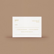 Gold/ Silver Ink or Black RSVP Card - Reception Cards - WPVD-IG - 178726