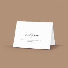 Black Ink Thank You Cards - Accommodation Cards - DY116092-GW-GG-2 - 178720