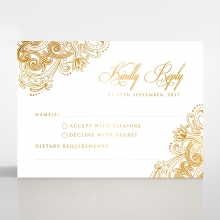 Imperial Glamour with Foil rsvp wedding card