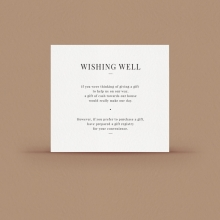 Gold/ Silver Ink or Black Wishing Well Card - Wishing Well/Gift Registry - WPWD-IB - 178731