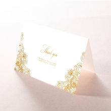 Imperial Glamour with Foil thank you wedding stationery card