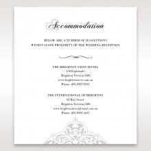 An Elegant Beginning wedding accommodation enclosure invite card