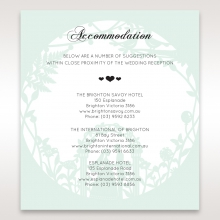 Arch of Love accommodation enclosure invite card