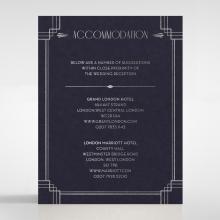 Art Deco Allure wedding accommodation enclosure invite card