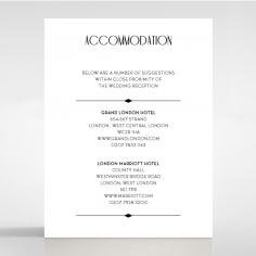 Art Deco Romance wedding stationery accommodation card design