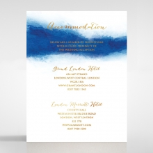 At Twilight  with Foil wedding accommodation enclosure card