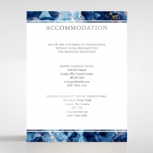 Azure  with Foil accommodation stationery invite card