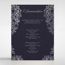 Baroque Romance wedding accommodation enclosure invite card