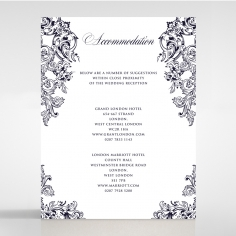 Baroque Romance wedding stationery accommodation invitation card