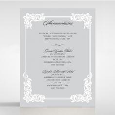 Black Divine Damask wedding accommodation invite card