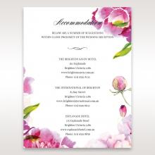 Black Framed Floral Pocket accommodation invitation card
