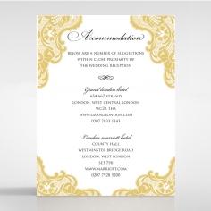 Black Lace Drop wedding accommodation enclosure invite card