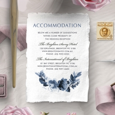 Blissful Union accommodation stationery invite card design
